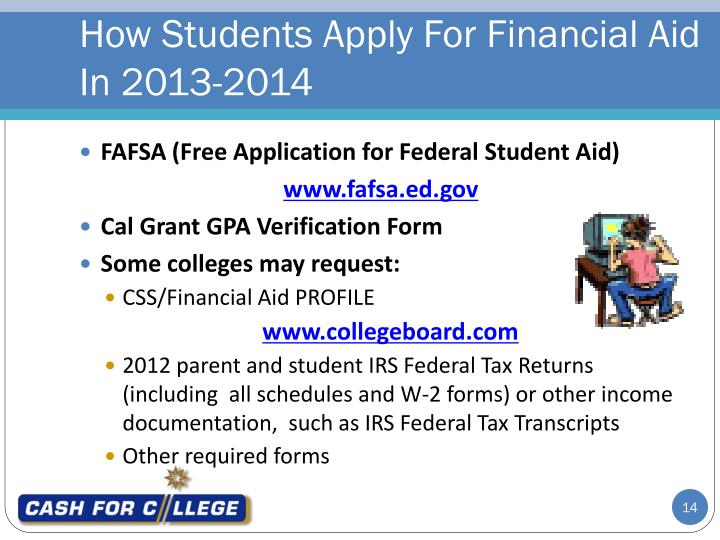 How Students Apply For Financial Aid In 2013-2014