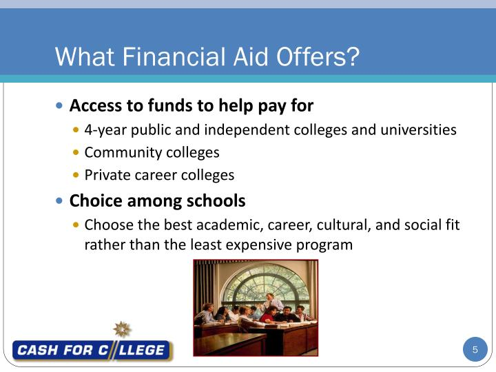 What Financial Aid Offers?