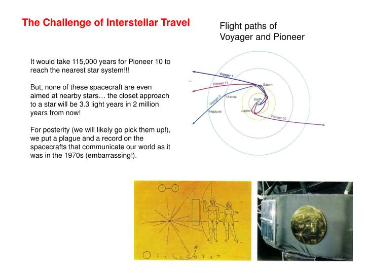The Challenge of Interstellar Travel