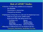 role of adme studies
