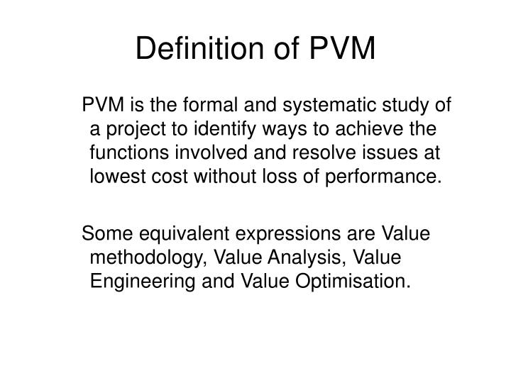 Definition of PVM