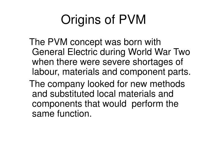 Origins of PVM
