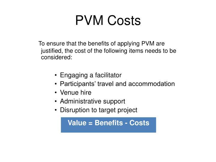 PVM Costs