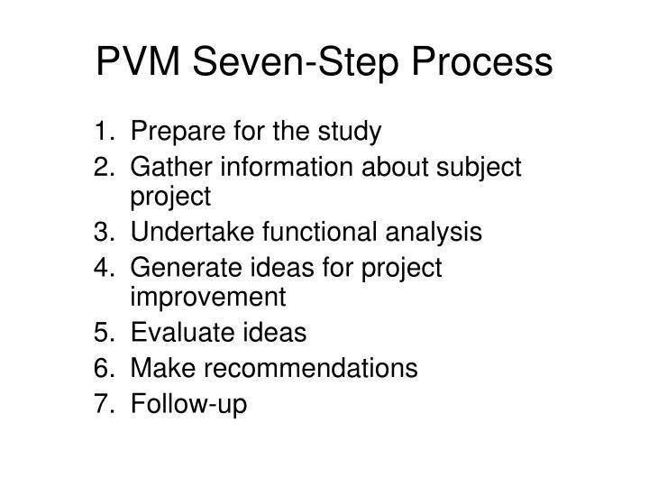 PVM Seven-Step Process