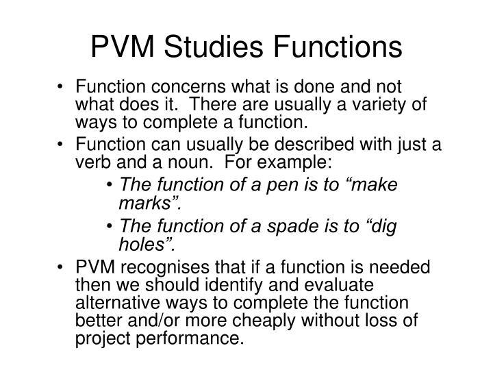 PVM Studies Functions