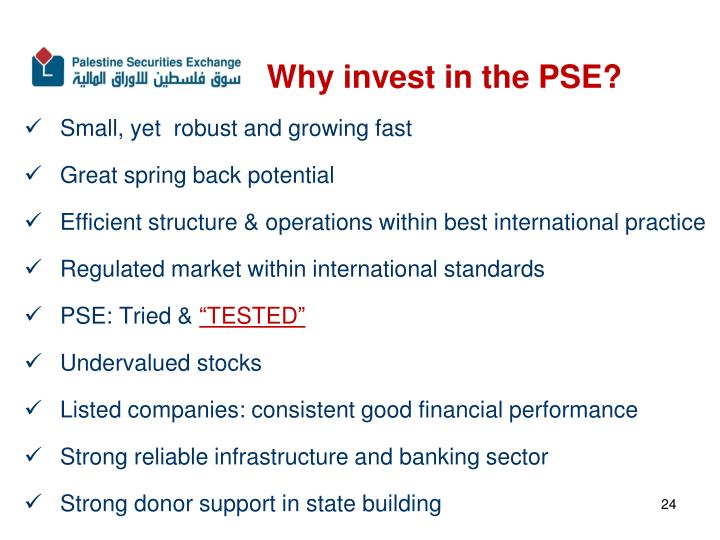 Why invest in the PSE?