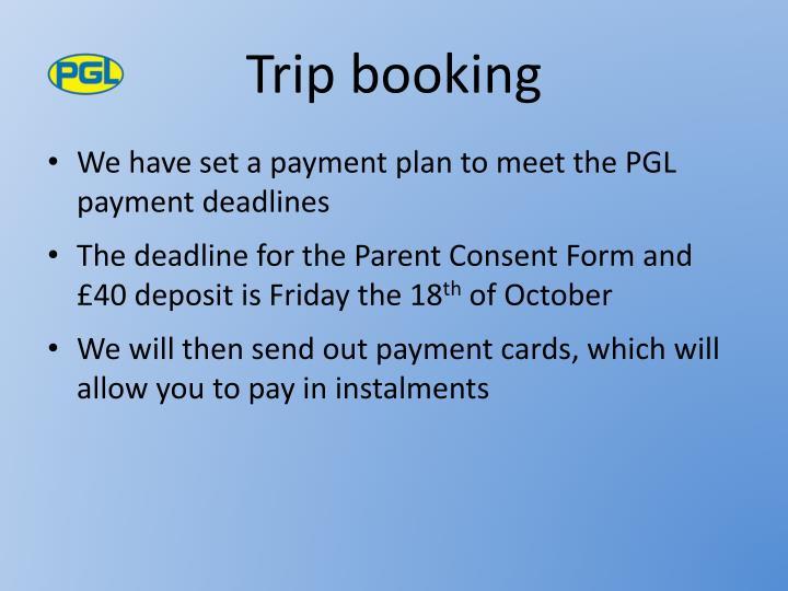 Trip booking