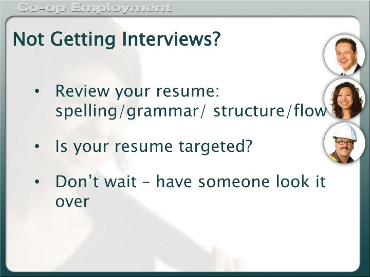 Not Getting Interviews?
