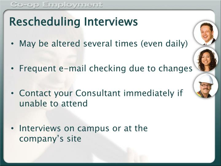 Rescheduling Interviews