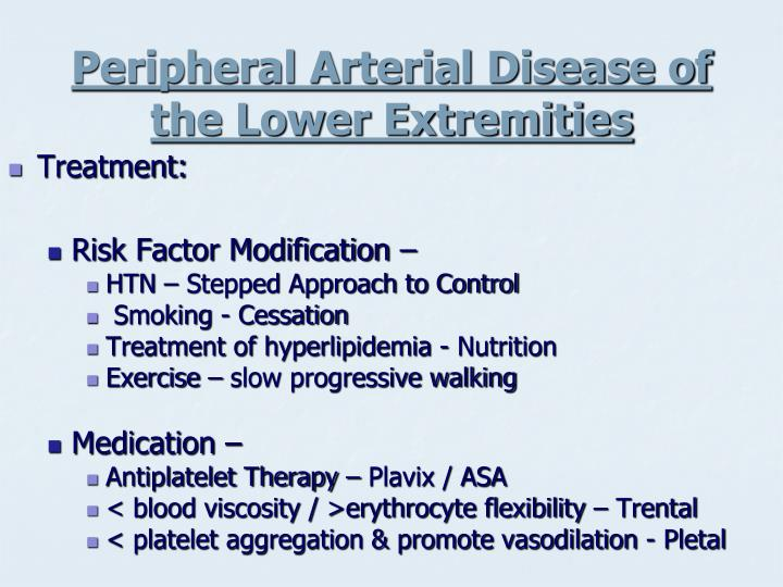 Peripheral Arterial Disease of the Lower Extremities