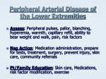 peripheral arterial disease of the lower extremities2
