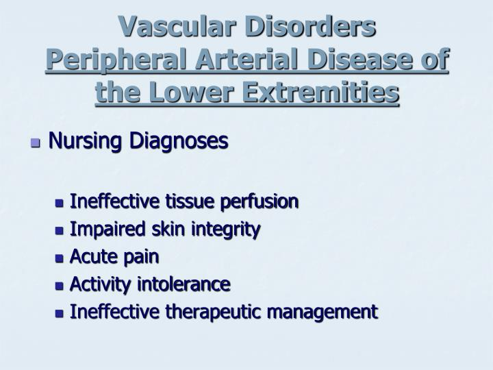 Vascular Disorders