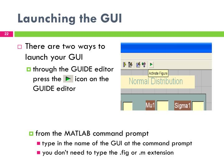 Launching the GUI