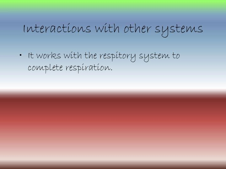 Interactions with other systems