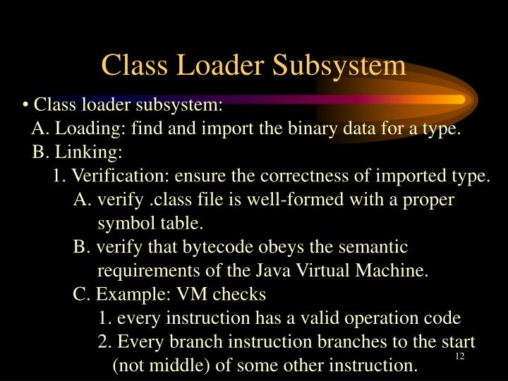 Class Loader Subsystem