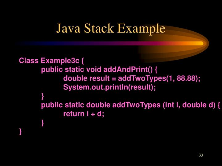 Java Stack Example