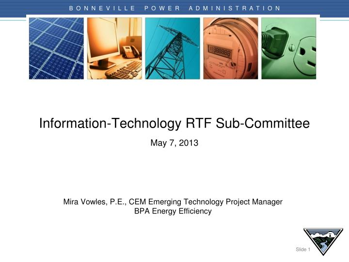 Information technology rtf sub committee may 7 2013