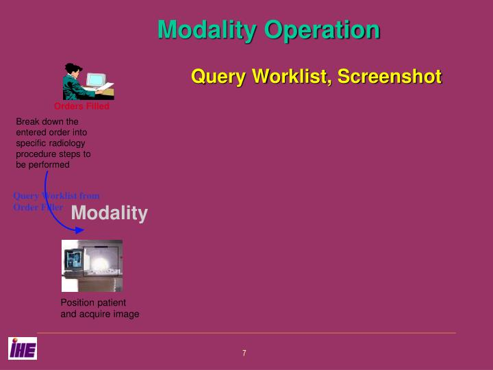 Query Worklist from Order Filler