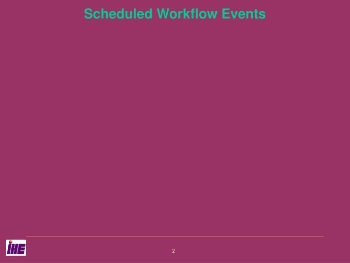 Scheduled Workflow Events