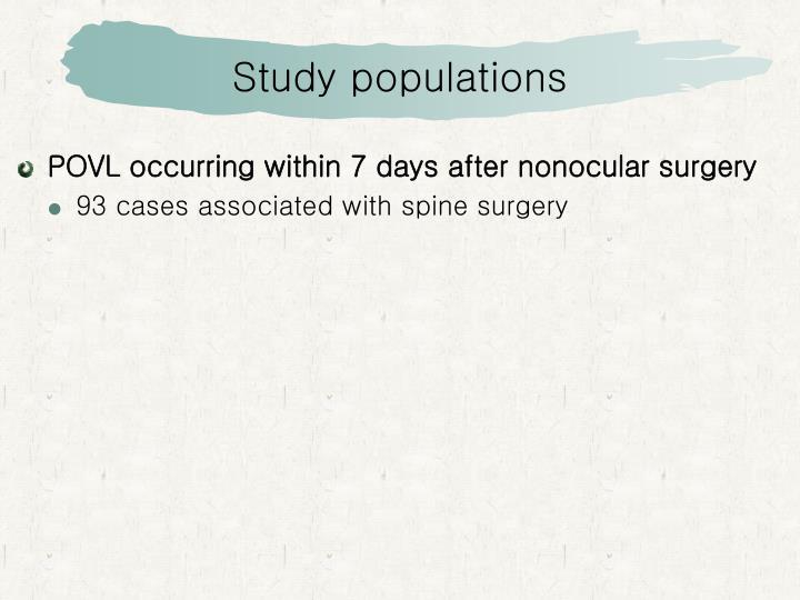Study populations