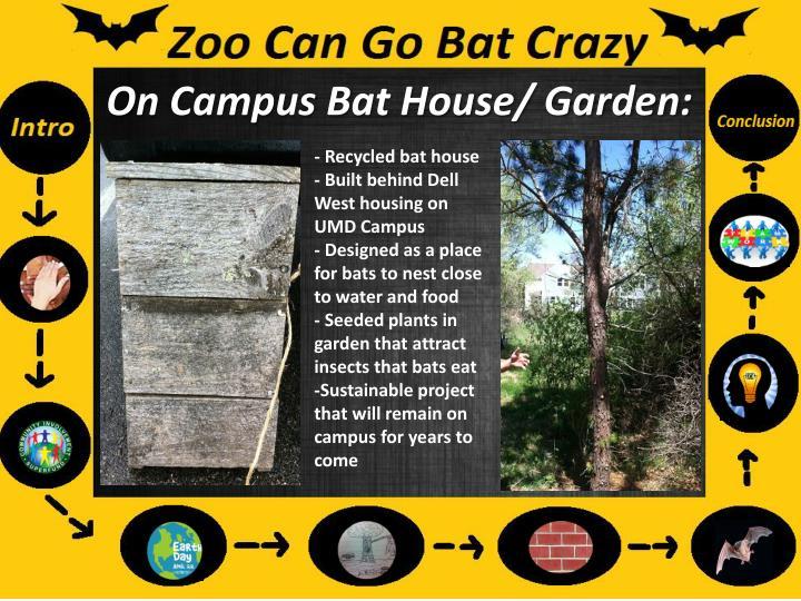 On Campus Bat House/ Garden: