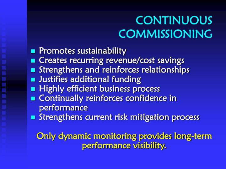CONTINUOUS COMMISSIONING