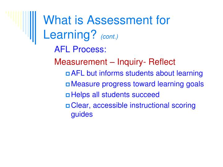 What is Assessment for Learning?
