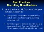 best practices recruiting non members