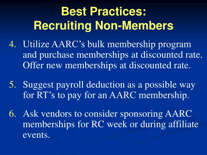Best Practices: