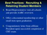 best practices recruiting retaining student members1