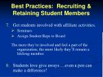 best practices recruiting retaining student members2