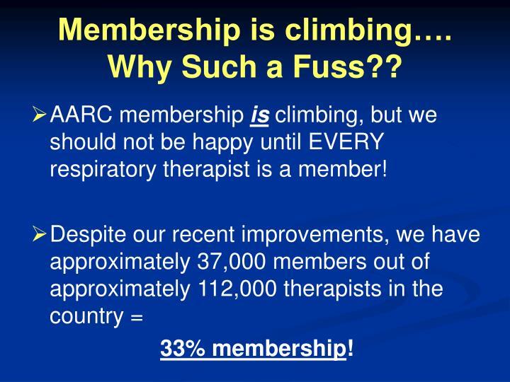 Membership is climbing….