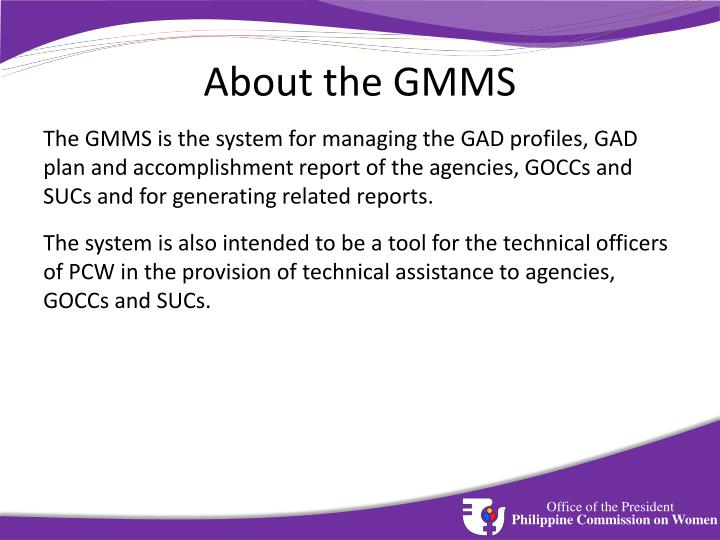 About the GMMS