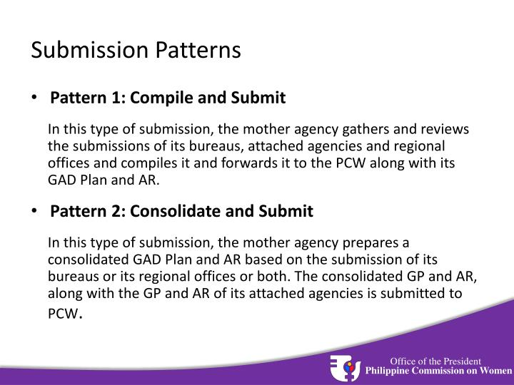 Submission Patterns