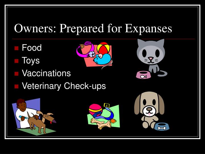 Owners: Prepared for Expanses