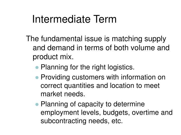 Intermediate Term