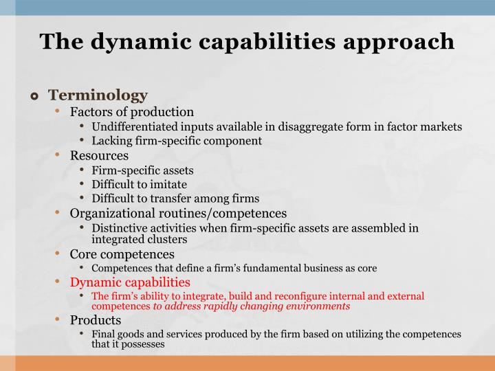 dynamic capabilities and strategic management Dynamic capabilities and strategic management: organizing for innovation and growth - ebook written by david j teece read this book using google play books app on.