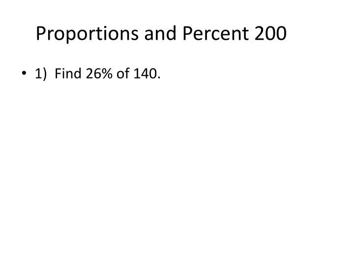 Proportions and Percent 200