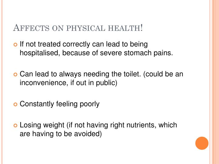 Affects on physical health!
