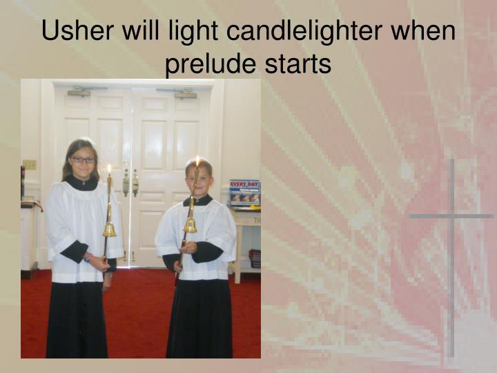 Usher will light