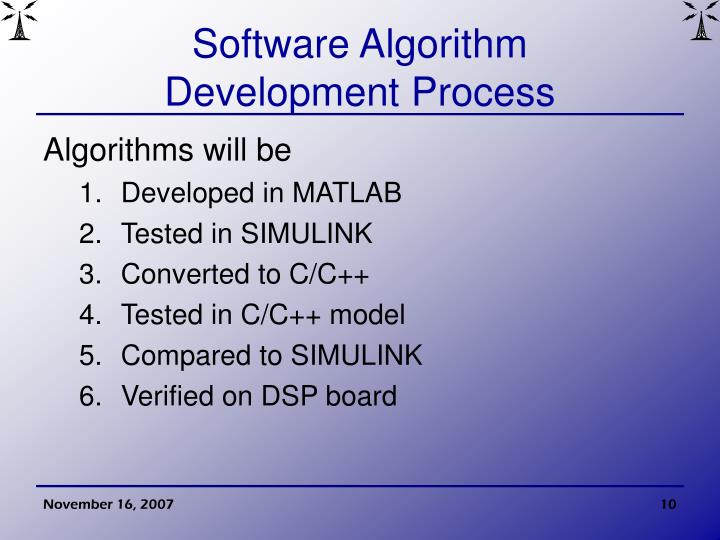 Software Algorithm
