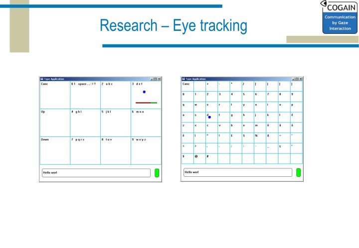Research – Eye tracking