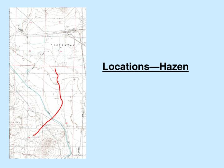 Locations hazen