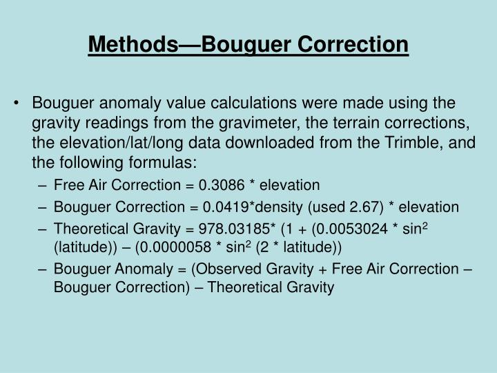 Methods—Bouguer Correction