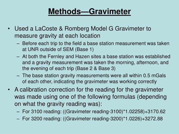 Methods—Gravimeter