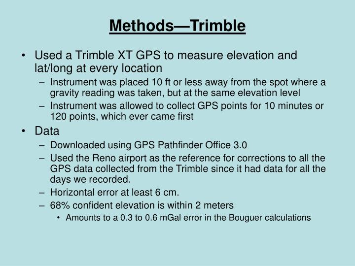 Methods—Trimble