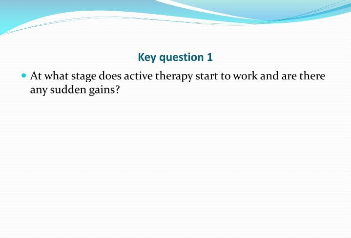 Key question 1
