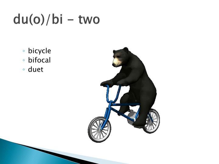 du(o)/bi - two