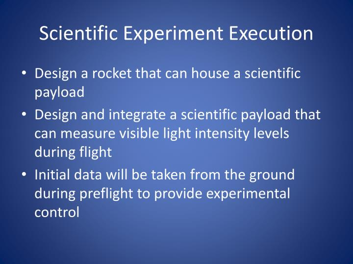 Scientific Experiment Execution