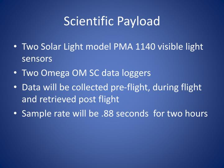 Scientific Payload
